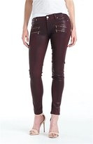 Paige 'Edgemont' Coated Ultra Skinny Jeans (Woodberry)