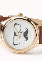 Forever 21 Mustache Faux Leather Watch