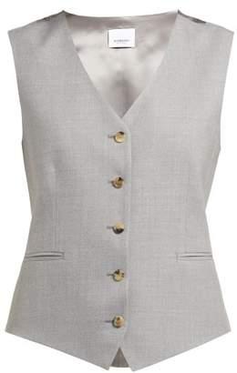 Burberry Wool Waistcoat - Womens - Grey