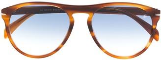 David Beckham Aviator Frame Tortoise-Shell Sunglasses