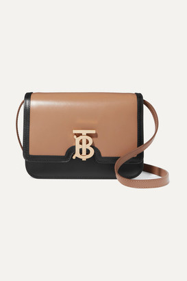 Burberry Small Two-tone Leather Shoulder Bag - Camel