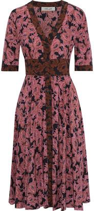Diane von Furstenberg Peony Floral-print Silk Crepe De Chine Dress