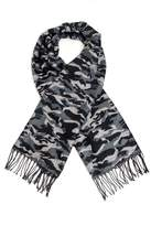 Quiz Grey Camouflage Thick Scarf