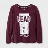 art class Girls' Lead the World Long Sleeve Graphic T-Shirt - Art Class Autumn Purple