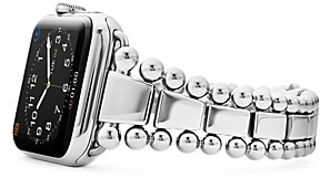 Lagos Stainless Steel Smart Caviar Apple Watch Band, 42mm