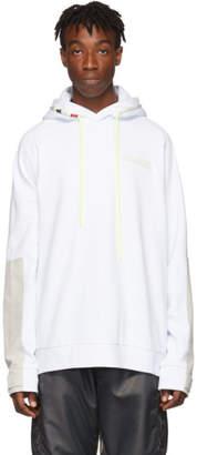 Moncler White Logo Hoodie