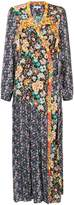 Frame floral longsleeved raglan wrap dress