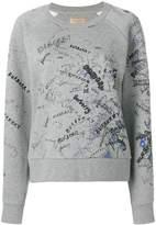 Burberry logo writing print sweater
