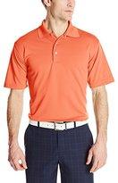 PGA TOUR Men's Airflux Short Sleeve Solid Polo Shirt