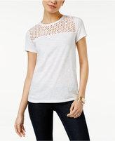 MICHAEL Michael Kors Eyelet-Yoke T-Shirt