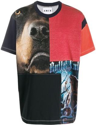 Amen multi-print T-shirt