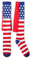 Bioworld Women's Knee High Socks With Cape - Stars & Stripes One Size