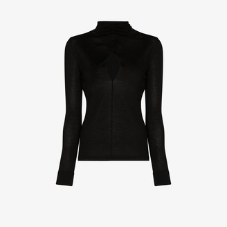 Tom Ford Keyhole Wrap Neck Sweater
