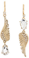 Betsey Johnson Angels And Wings Feather Mis Match Earring