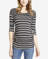 Jessica Simpson Maternity Striped Boat-Neck Top