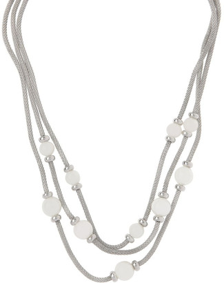 Trent Nathan Multi Snake Chain Glass Pearl Necklace