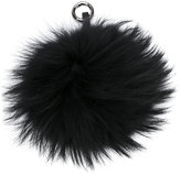 N.Peal pom-pom keyring - women - Leather/Racoon Fur - One Size