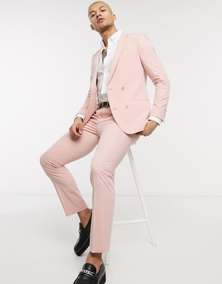 Lockstock slim fit suit trousers in dusty pink