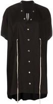 Rick Owens drawstring-waist popper dress