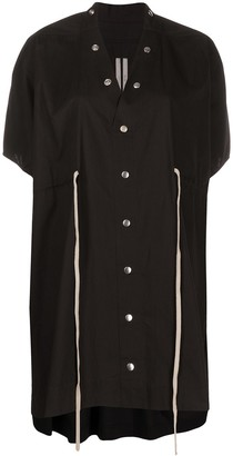 Rick Owens Drawstring-Waist Popper Dress