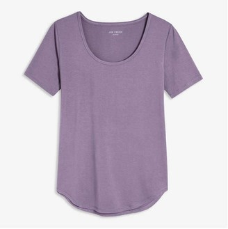 Joe Fresh Women's Moisture-Wicking Yoga Tee, Pastel Purple (Size XL)