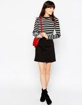 Asos Denim A-Line Mini Skirt in Washed Black