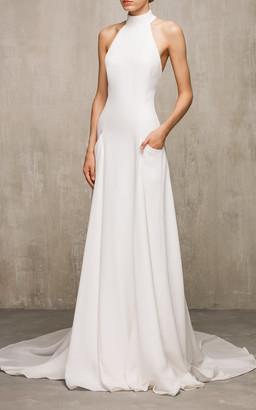 Edem Bridal Iris Silk Halter Neck Gown
