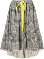 Fendi plaid flared skirt