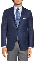 Hickey Freeman Classic Fit Check Wool Sport Coat