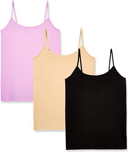 5e2d926167a 3 Pack Women's Seamless Basic Layer Camisole Top Nylon Spandex