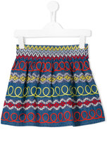 Stella McCartney swirly patterned skirt
