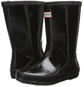 Hunter Original Kids' First Classic Gloss Rain Boot (Toddler) (Black) Kids Shoes