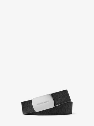 Michael Kors Reversible Logo and Leather Belt
