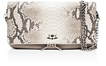 Zadig & Voltaire Rock Python Embossed Leather Crossbody Clutch