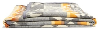 Pendleton Arrowhead Wool And Cotton-blend Blanket - Grey Multi