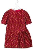 I Pinco Pallino asymmetric skirt brocade dress