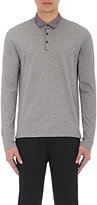 Lanvin Men's Long-Sleeve Polo Shirt-GREY