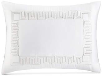 Hotel Collection Greek Key Cotton Platinum King Sham, Bedding