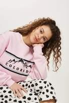 Topshop Petite Colorado Cropped Sweatshirt