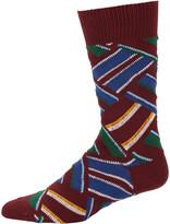 Beams Men's Regimental Crazy Socks
