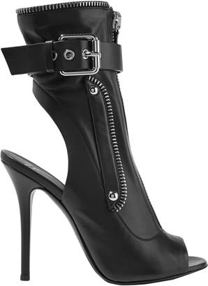 Giuseppe Zanotti Cutout Zip-detailed Leather Ankle Boots