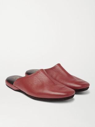 Charvet Leather Slippers - Men - Burgundy