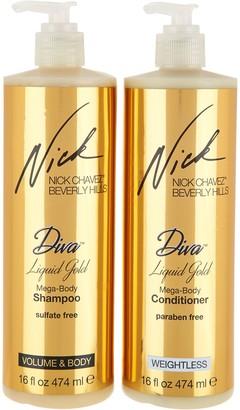 Nick Chavez Diva Liquid Gold 16 oz. Shampoo & Conditioner