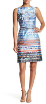 Chetta B Print Sheath Dress