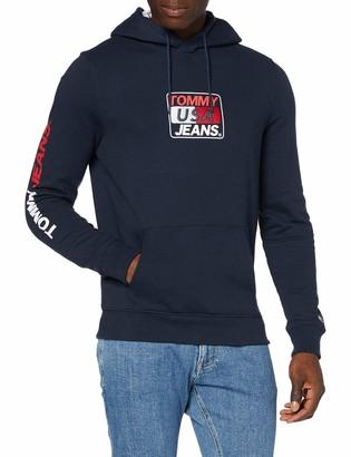 Tommy Jeans Men's TJM Essential Graphic Hoodie Hooded Sweatshirt