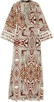 Melissa Odabash Loulou Crochet-trimmed Printed Poplin Maxi Dress
