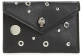 Alexander McQueen Women's Calfskin Leather Envelope Card Holder - Black