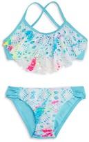 Pilyq Girls' Lace Flutter 2-Piece Swimsuit - Little Kid, Big Kid