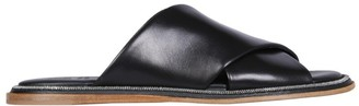 Brunello Cucinelli Criss Cross Slip-On Sandals