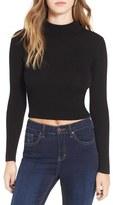 Astr Women's 'Nellie' Crop Mock Neck Sweater